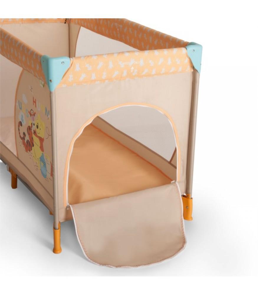 lit parapluie winnie l 39 ourson et tigrou avec ouverture lat rale 120 cm. Black Bedroom Furniture Sets. Home Design Ideas