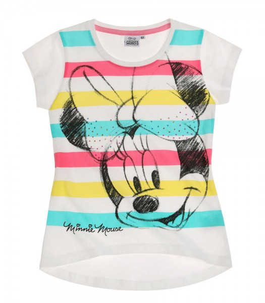 Disney Minnie t shirt blanc rayé